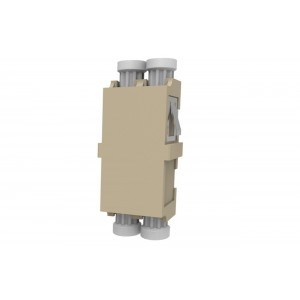 C&E® CNE632360 LC to PC Multimode, Duplex Adaptor Without Flange, Ceramic Sleeve, Beige Color