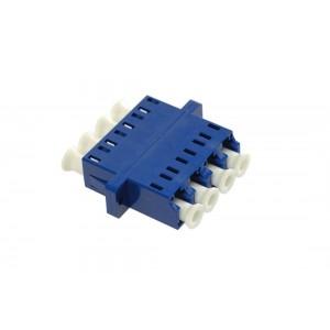 C&E® CNE632605 LC to UPC Single Mode, Quad Adaptor with Flange, Ceramic Sleeve, Blue Color