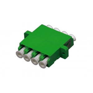 C&E® CNE632667 LC to Apc Single Mode, Quad Adaptor with Flange, Ceramic Sleeve, Green Color