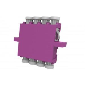 C&E® CNE632902 LC to PC Multimode, Quad Adaptor with Flange, Ceramic Sleeve, Violet Color