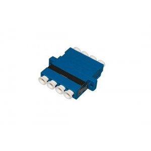 C&E® CNE632964 LC to UPC Single Mode, Quad Adaptor without Flange, Ceramic Sleeve, Blue Color