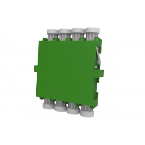 C&E® CNE633022 LC to Apc Single Mode, Quad Adaptor without Flange, Ceramic Sleeve, Green Color