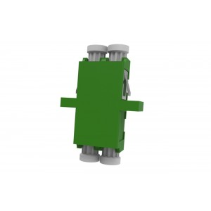 C&E® CNE633381 LC to APC Duplex Adaptor with Inner Shutter & Flange, Unibody Design, Green Color