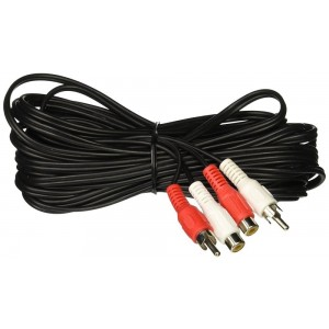 C&E® RCA Audio/Video Extension Cable RCA Male to RCA Female (25 Feet) Sp