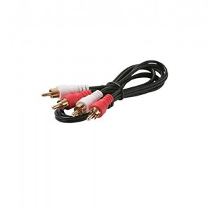 C&E® 2 RCA Audio Male to Male (GP 2 White/2 Red connectors) 12ft