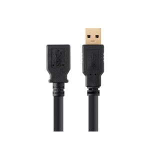 C&E® Select Series USB 3.0 A to A Female Extension Cable, 1.5 Feet