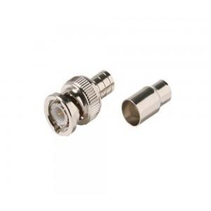 C&E® BNC Hex Crimp Plug RG59 Plenum 2PC Connector
