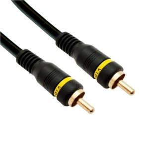 C&E® Composite Video Cable RCA Male Gold Plated Connectors, 75 Feet