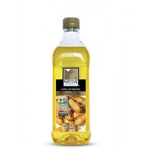 Native Harvest Non GMO Peanut Oil, 1 Litre (32FL OZ)